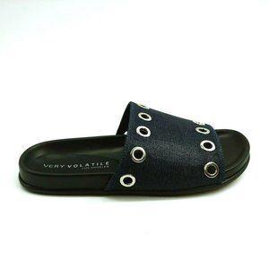 Very Volatile Womans Estaba Slide Sandal Black NEW